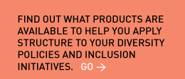 Find out what products are available to help you apply structure to your diversity policies and inclusion initiatives. Go